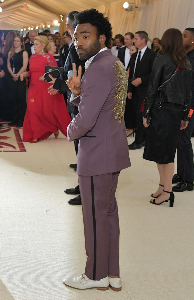 <p>Donald Glover in Gucci. (Photo: Getty Images) </p>