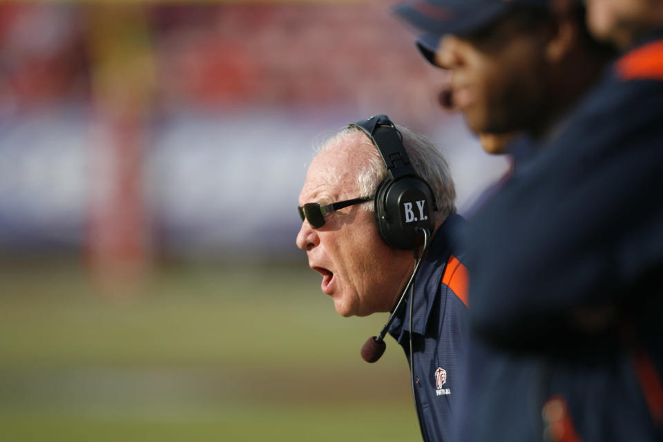 Mike Price was the head coach at UTEP from 2004 to 2012. (Photo by Aaron M. Sprecher/Icon SMI/Icon Sport Media via Getty Images)