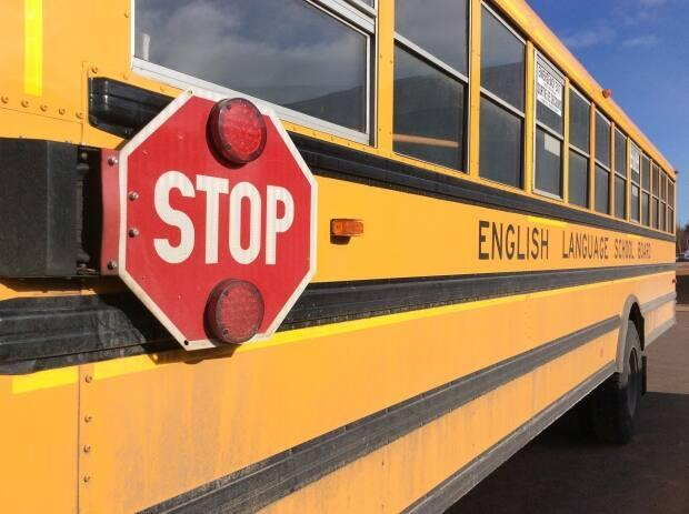 The RNC say no school children were passengers on the bus involved in Wednesday's collision. (Nancy Russell/CBC - image credit)