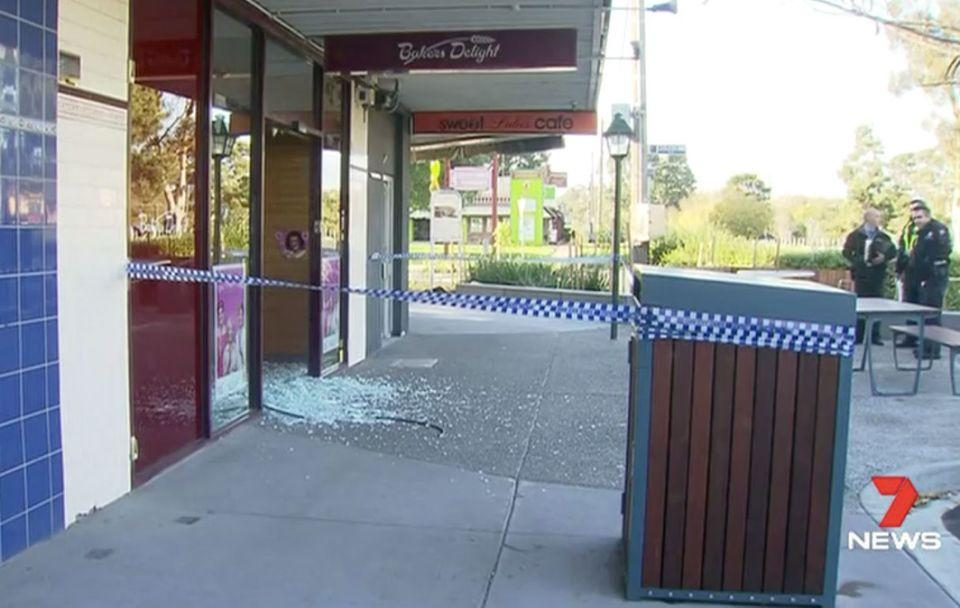 The Keilor strip has seen numerous recent break-ins. Photo: 7 News