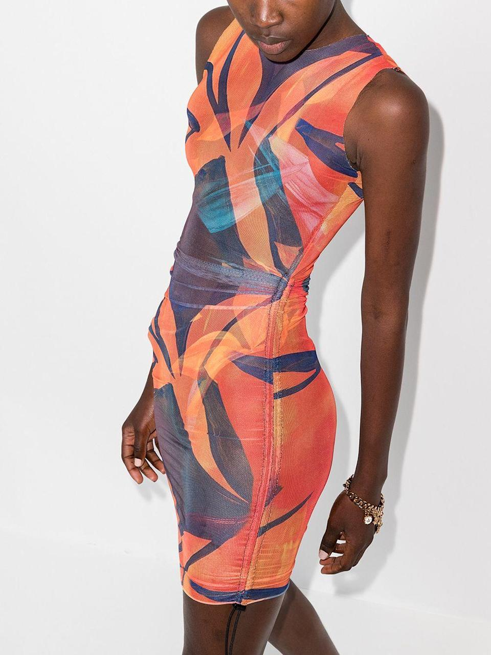 """<h2>Bodycon Mini</h2><br>""""After endless months of being stuck indoors shrouded in comfortable layers, the re-emergence from lockdown brings with it a certain boldness, and a willingness to test drive more daring pieces than we may have before. The mini bodycon dress will be a star of the summer.""""<br><br>- Celenie Seidel, Senior Womenswear Editor at Farfetch<strong><br> </strong> <br><br><strong>Louisa Ballou</strong> Heatwave Sheer Mini Dress, $, available at <a href=""""https://go.skimresources.com/?id=30283X879131&url=https%3A%2F%2Fwww.farfetch.com%2Fshopping%2Fwomen%2Flouisa-ballou-heatwave-sheer-mini-dress-item-16085215.aspx%3Fstoreid%3D13537"""" rel=""""nofollow noopener"""" target=""""_blank"""" data-ylk=""""slk:Farfetch"""" class=""""link rapid-noclick-resp"""">Farfetch</a>"""