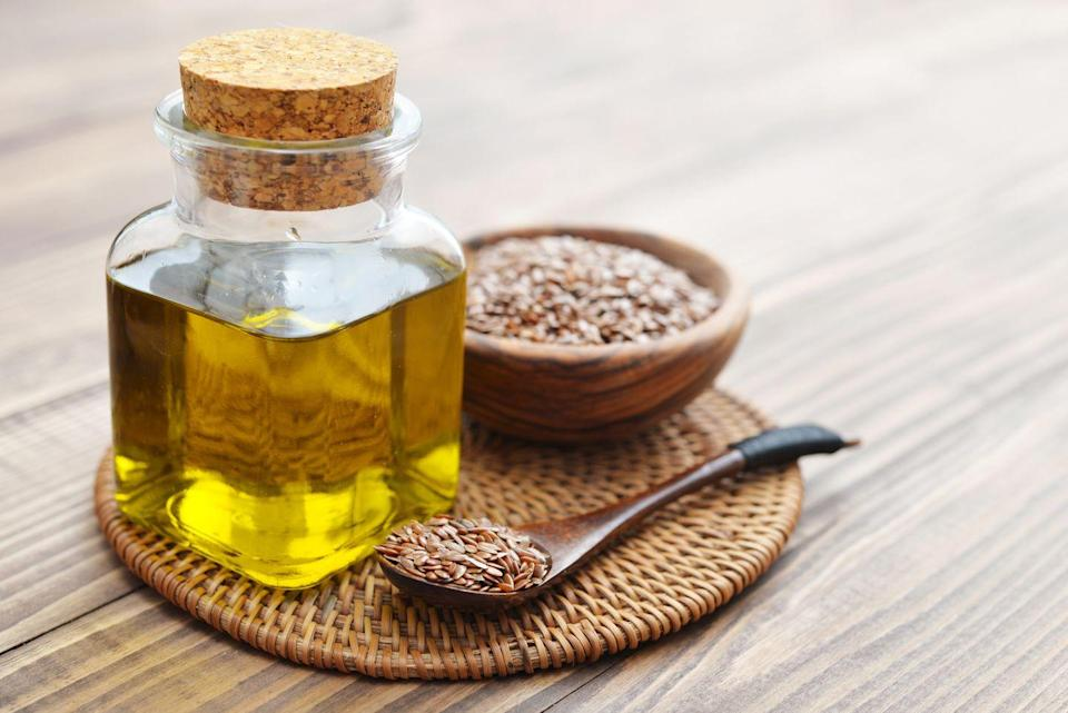 """<p>Flaxseed oil is a great vegan source of healthy omega-3 fatty acids. Diets rich in omega-3 ALA, found in flaxseed oil, have been linked to lower lipid levels and reduced blood pressure in individuals with high cholesterol. Abundant in monounsaturated fats, <strong>flaxseed oil requires refrigeration</strong> and is very sensitive to heat as it can go rancid and oxidize quickly. Flaxseed oil has a very slightly nutty flavor and is best for for salad dressings and drizzling. Due to its low smoke point, flaxseed oil should not be cooked with. It's important to note that flaxseed oil can spoil quickly, which is why it should be kept in a dark container in the back of the refrigerator. </p><p><strong>Best for: </strong>Salad dressings and drizzling</p><p><strong>Smoke point:</strong> 225°F</p><p><strong>Nutritionist pick:</strong> <a href=""""https://go.redirectingat.com?id=74968X1596630&url=https%3A%2F%2Fwww.instacart.com%2Fproducts%2F52671-spectrum-essentials-spectrum-organic-flax-oil-8-fl-oz&sref=https%3A%2F%2Fwww.goodhousekeeping.com%2Fhealth%2Fdiet-nutrition%2Fg32108013%2Fhealthiest-cooking-oils%2F"""" rel=""""nofollow noopener"""" target=""""_blank"""" data-ylk=""""slk:Spectrum Essentials Organic Flax Oil"""" class=""""link rapid-noclick-resp"""">Spectrum Essentials Organic Flax Oil</a><br></p>"""
