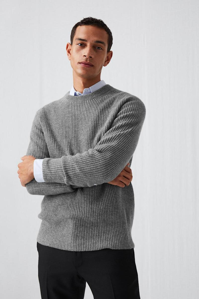 Recycled cashmere sweater, £150 from Arket (Arket)