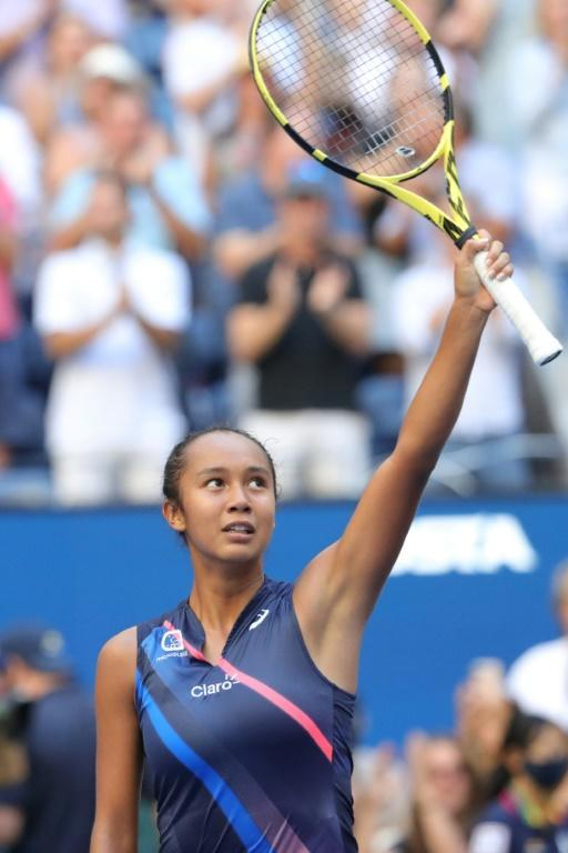 Canada's Leylah Fernandez, who turned 19 on Monday, is one victory from a berth in the US Open final (AFP/Kena Betancur)