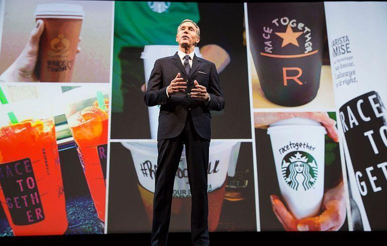 "<p>After a Starbucks employee asked two African American customers, who were in the store but hadn't purchased anything, to leave, people began boycotting and protesting the coffee chain. Starbucks responded to the issues by launching the <a href=""https://stories.starbucks.com/stories/2015/what-race-together-means-for-starbucks-partners-and-customers/"" rel=""nofollow noopener"" target=""_blank"" data-ylk=""slk:Race Together campaign"" class=""link rapid-noclick-resp"">Race Together campaign</a>. </p>"