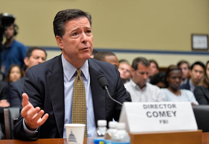 FBI Director James Comey testifies before the House Oversight Committee on the agency'sinvestigation into Hillary Clinton's email systemonJuly 7, 2016.