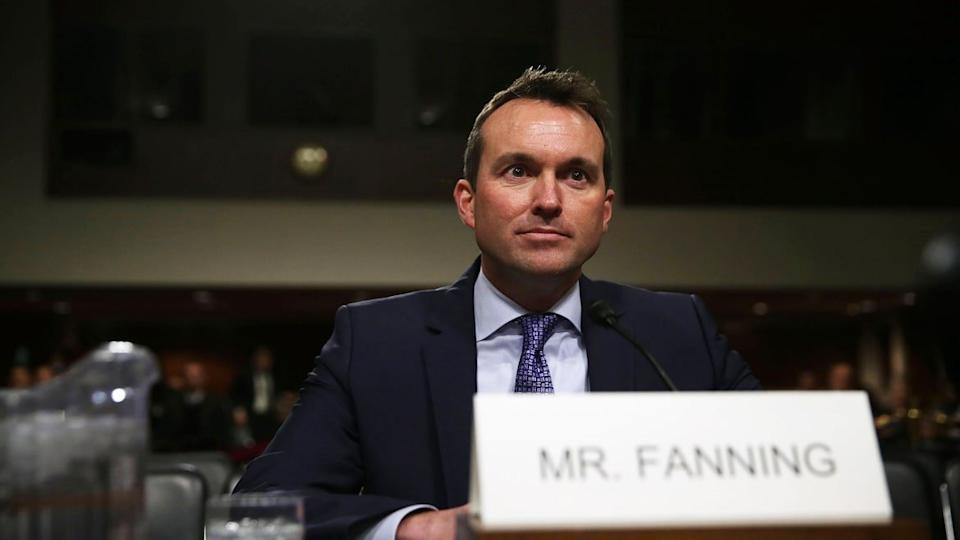 """<div class=""""inline-image__caption""""><p>Then-acting U.S. Secretary of the Army Eric Fanning testifies during his confirmation hearing Jan. 21, 2016, on Capitol Hill in Washington, D.C.</p></div> <div class=""""inline-image__credit"""">Alex Wong/Getty </div>"""