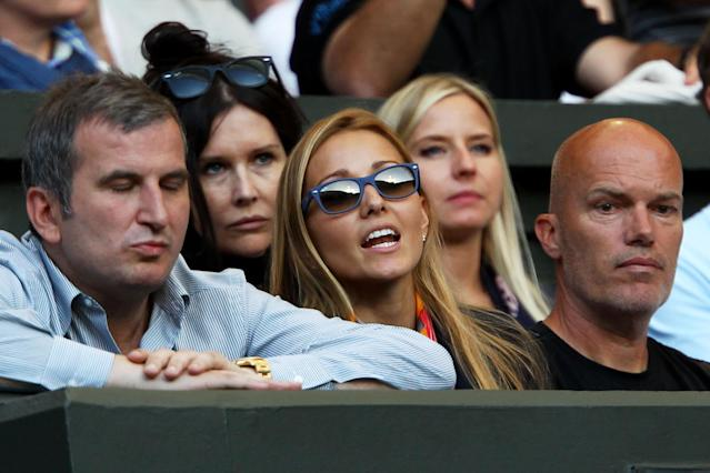 LONDON, ENGLAND - JUNE 25: Jelena Ristic watches the third round match between Novak Djokovic of Serbia and Marcos Baghdatis of Cyprus on Day Six of the Wimbledon Lawn Tennis Championships at the All England Lawn Tennis and Croquet Club on June 25, 2011 in London, England. (Photo by Clive Brunskill/Getty Images)