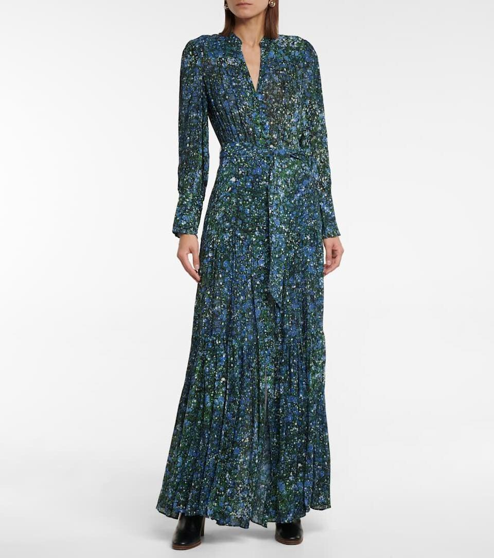 <p>This <span>Veronica Beard Maidens Printed Maxi Dress</span> ($747) is perfect for fall. The long sleeves and the cool floral print are so seasonally appropriate.</p>