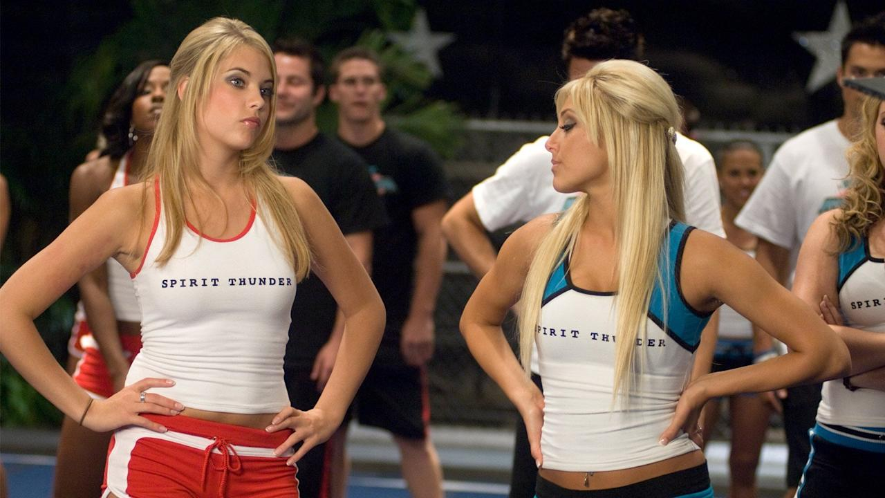 """<p>The cheer squad is back, and this time they are fighting against their elite New York rivals for the biggest title of them all at cheer camp. That is, not without tears, relationship quarrels, and a whole lot of drama.</p> <p><a href=""""https://www.netflix.com/title/70082341"""" target=""""_blank"""" class=""""ga-track"""" data-ga-category=""""Related"""" data-ga-label=""""https://www.netflix.com/title/70082341"""" data-ga-action=""""In-Line Links"""">Watch <strong>Bring It On: In It to Win It</strong> now</a>.</p>"""