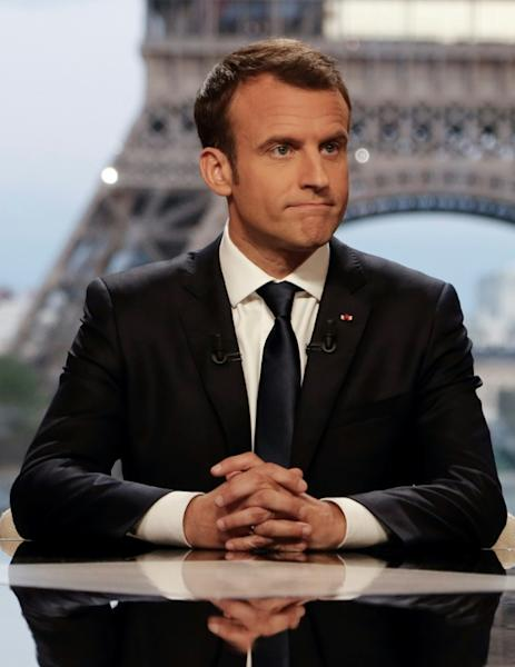 """""""With these strikes and this intervention, we separated the Russians and the Turks (who) condemned the chemical strike and supported the operation that we conducted,"""" Macron said Sunday"""