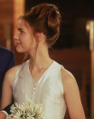 <p>Baz Luhrmann's <em>Romeo + Juliet</em> was full of some of our favorite looks from the '90s, including Juliet's wedding hair. We all tried this messy updo, right?</p>
