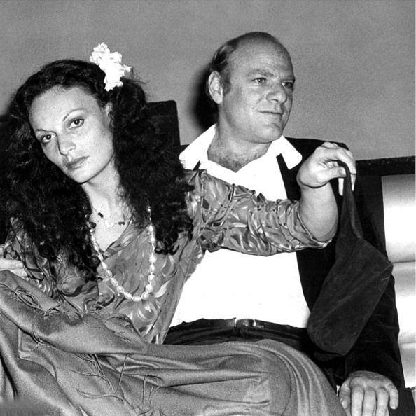 <p>Fashion designer, Diane Von Furstenberg, joins future husband, Barry Diller, at Studio 54 in 1977. </p>