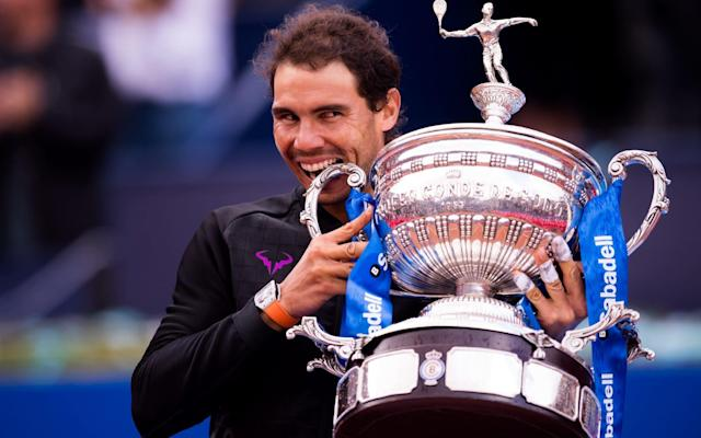 Rafael Nadal celebrates in Barcelona after winning yet anotherATP Tour title - Getty Images Europe