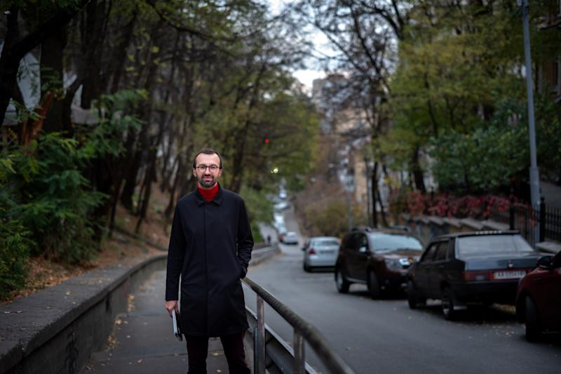 Investigative reporter and former parliamentarian, Serhiy Leshchenko in Kiev, Ukraine on October 29, 2019. (Photo: Agron Dragaj for Yahoo News)