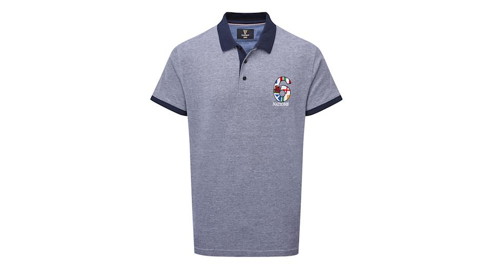 Guinness Short Sleeve 6 Nations Birdseye Polo Shirt
