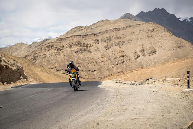 Motorcycles provide an efficient last-mile solution through the mountains. (Amazon)