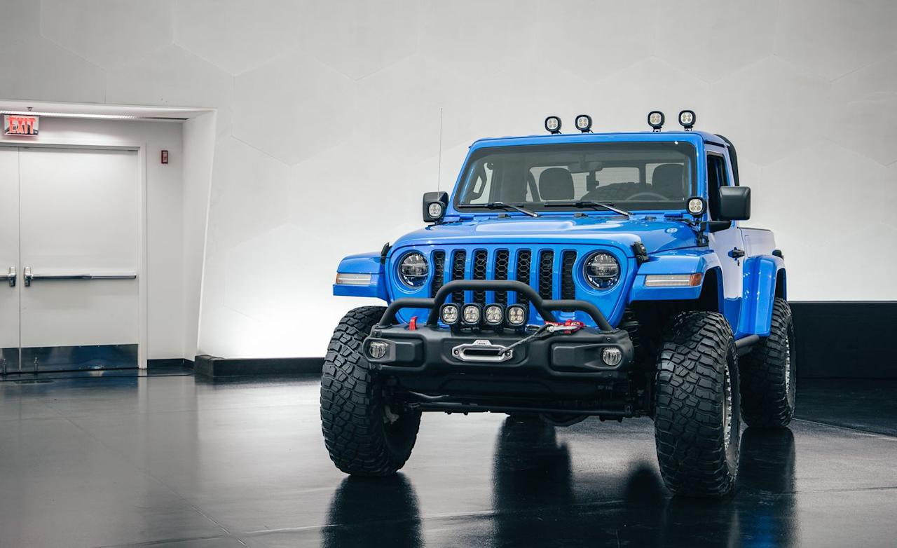 <p>After starting with a Gladiator Rubicon, Jeep created a custom two-door body.</p>