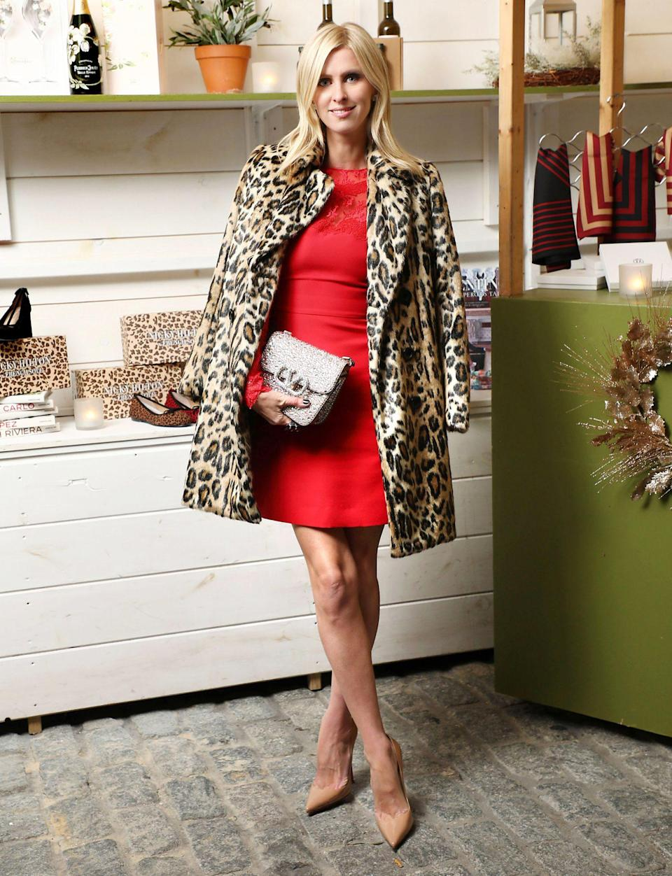 <p>Nicky Hilton Rothschild attends the launch of Le Marche at Fig & Olive, a holiday gift market curated by Olivia Palermo, on Tuesday in N.Y.C. </p>