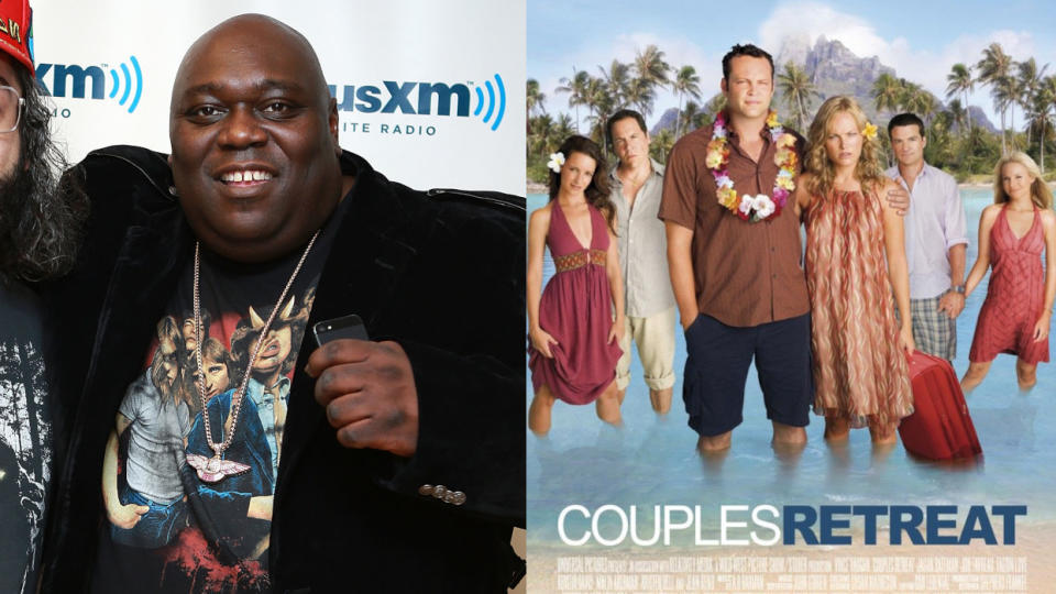 Faizon Love is suing the makers of 2009 romcom 'Couples Retreat'. (Credit: Robin Marchant/Getty Images/Universal)