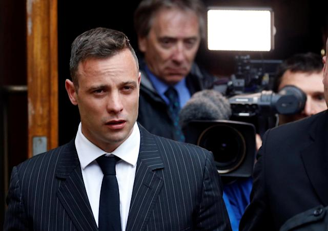 Former Paralympian Oscar Pistorius leaves during a court break at the Pretoria High Court, South Africa June 13,2016. REUTERS/Siphiwe Sibeko