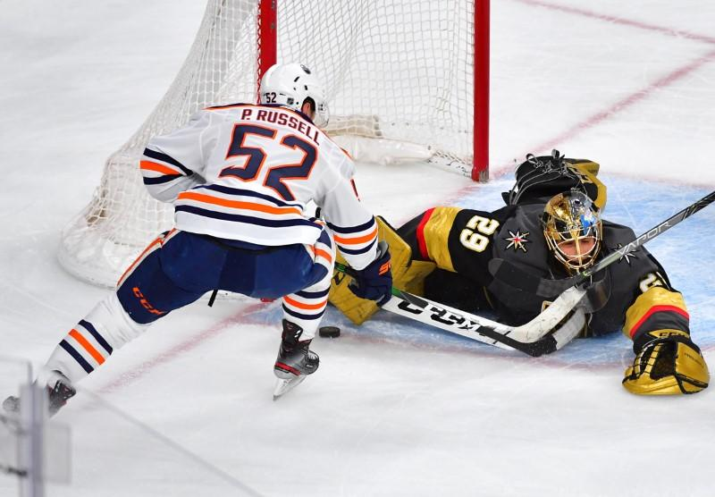 NHL: Edmonton Oilers at Vegas Golden Knights