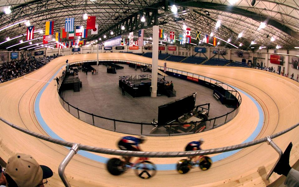 General view of the ADT Event Center at the Home Depot Center, the first indoor international standard velodrome in North America. (Photo by Kirby Lee/WireImage)