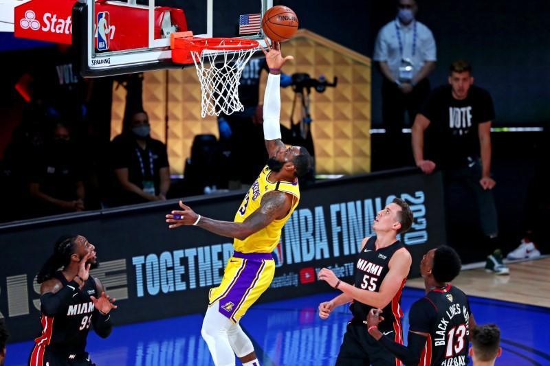 Lakers hit back to beat Heat and take 3-1 NBA Finals lead