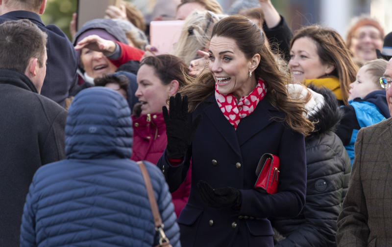 Kate Middleton surprise face at Mumbles in Wales