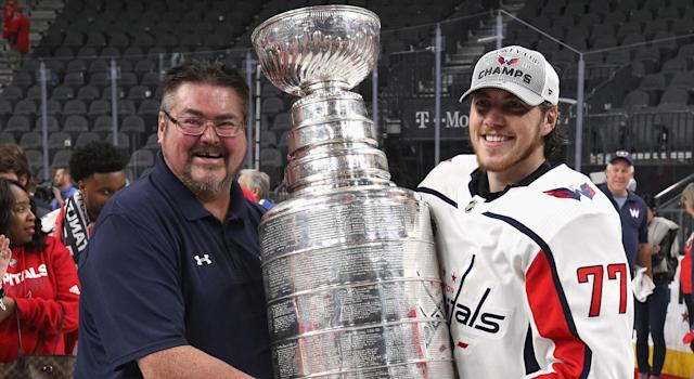 Tim Oshie couldn't make the Washington Capitals' father's trip, but he certainly was not left out. (Getty Images)