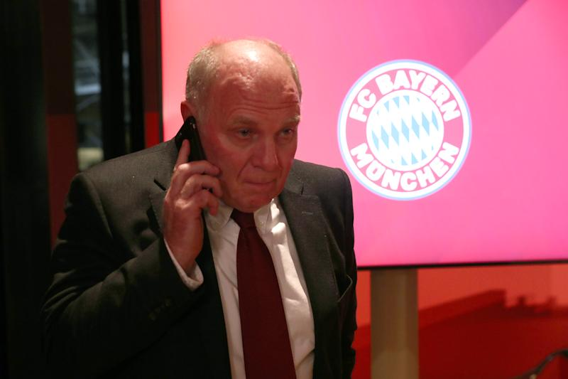 MUNICH, GERMANY - NOVEMBER 15: Honorary President of FC Bayern Muenchen Uli Hoeness arrives for a pressconference after the annual general meeting of FC Bayern Muenchen at Olympiahalle on November 15, 2019 in Munich, Germany. (Photo by Alexander Hassenstein/Bongarts/Getty Images)