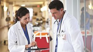 Physicians Consult with Philips Medical Tablet