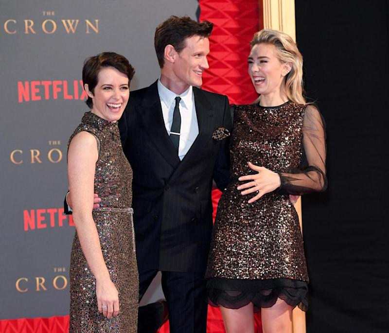 Stepping down: Claire Foy, Matt Smith and Vanessa Kirby starred in the first two seasons ()