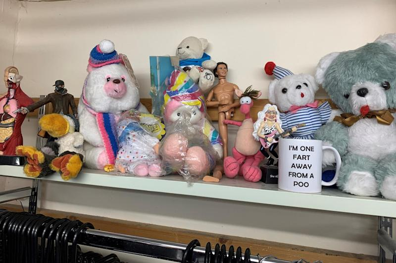 One shop keeps a shelf of 'weird and wonderful' things that people donate (Mind)