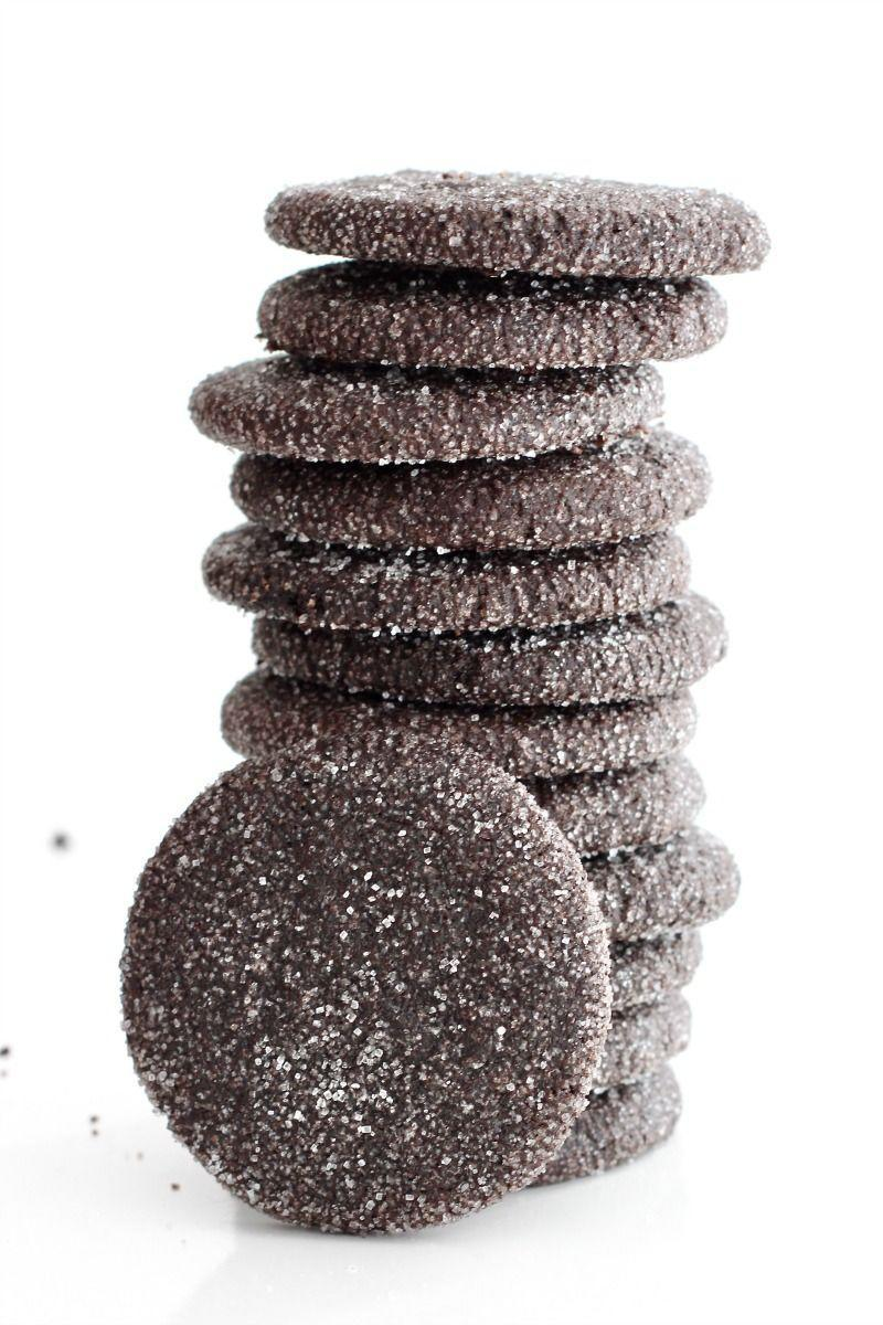 """<p>A versatile chocolate sugar cookie that can be rolled and coated in sugar or cut into shapes for decorating. </p><p><a href=""""https://thebakermama.com/recipes/chocolate-sugar-cookies/"""" rel=""""nofollow noopener"""" target=""""_blank"""" data-ylk=""""slk:Get the recipe"""" class=""""link rapid-noclick-resp"""">Get the recipe</a>.</p>"""