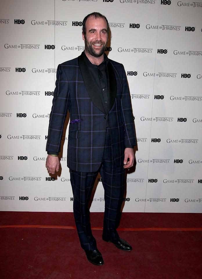 "Rory McCann attends the ""<span style=""text-decoration:underline;""></span><a target=""_blank"" href=""http://tv.yahoo.com/game-of-thrones/show/41208"">Game of Thrones</a>"" Season 1 DVD premiere at Old Vic Tunnels on February 29, 2012 in London, England."