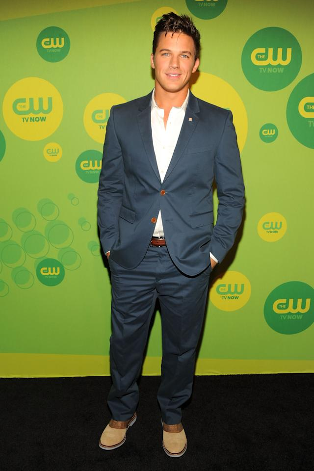 NEW YORK, NY - MAY 16:  Actor Matt Lanter attends The CW Network's New York 2013 Upfront Presentation at The London Hotel on May 16, 2013 in New York City.  (Photo by Ben Gabbe/Getty Images)