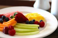 """<p>If you're not practicing intermittent fasting, starting your day with a healthy breakfast can help keep cravings at bay, regulate blood sugar, and keep you on track with your healthy eating goals for the rest of the day. Choose a breakfast that's high in protein to give you energy and full of fiber to keep you satisfied for hours. Here are some <a href=""""https://www.popsugar.com/fitness/Recipes-Healthier-Breakfast-Alternatives-21381522"""" class=""""link rapid-noclick-resp"""" rel=""""nofollow noopener"""" target=""""_blank"""" data-ylk=""""slk:healthful breakfast swaps"""">healthful breakfast swaps</a> that ensure your meals are always on point. </p>"""