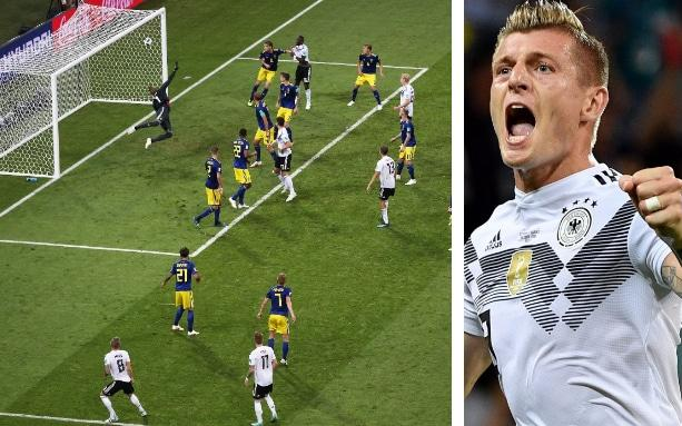 Toni Kroos celebrates scoring Germany's late, late winner - getty images