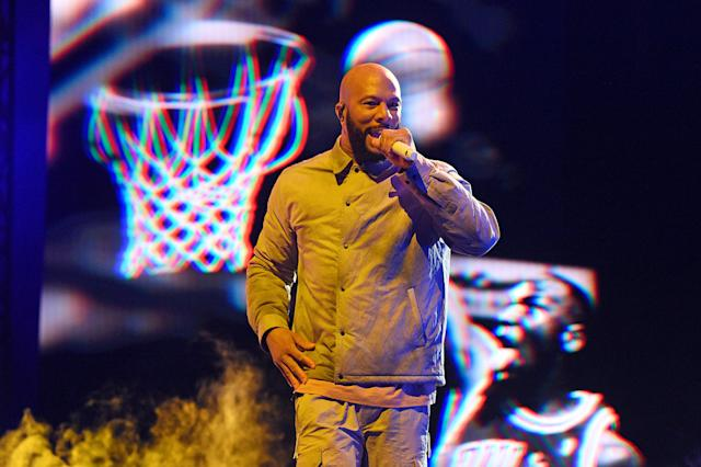 Chicago-based entertainer Common rhymed ever player's name for the All-Star introductions. (Kevin Mazur/Getty Images)