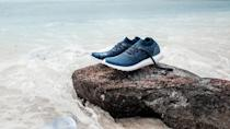 """<p>These trainers are made from 11 plastic bottles that have previously been polluting our oceans. Not only are they incredibly stylish and comfortable, they're part of a movement that aims to spin a problem into a solution by removing marine waste and turning it into treasure. The parntership also sees events called Run for the Ocean, to help raise awareness about the platic entering the water. <br>Source: <a rel=""""nofollow noopener"""" href=""""https://www.adidas.com.au/parley"""" target=""""_blank"""" data-ylk=""""slk:Adidas x Parley"""" class=""""link rapid-noclick-resp"""">Adidas x Parley</a> </p>"""