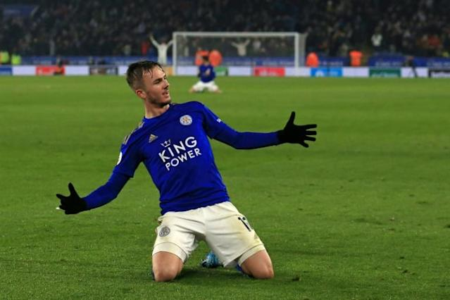 A run of seven straight Premier League wins has propelled Leicester into second (AFP Photo/Lindsey Parnaby)