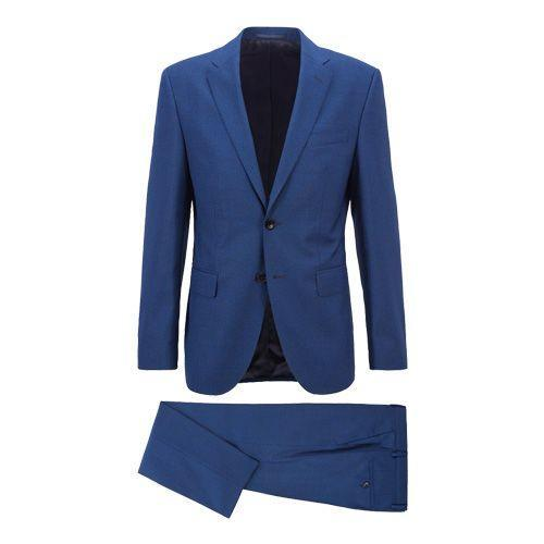 """<p><a class=""""link rapid-noclick-resp"""" href=""""https://go.redirectingat.com?id=127X1599956&url=https%3A%2F%2Fwww.hugoboss.com%2Fuk%2Fregular-fit-suit-in-micro-patterned-virgin-wool-serge%2Fhbeu50450466_497.html%3Fcgid%3D21100&sref=https%3A%2F%2Fwww.esquire.com%2Fuk%2Fstyle%2Ffashion%2Fg10108%2Fbest-mens-suits-under-500-value-tailoring-menswear%2F"""" rel=""""nofollow noopener"""" target=""""_blank"""" data-ylk=""""slk:SHOP"""">SHOP</a></p><p>Right, get moving, because it's very rare you'll get anything designer for less than £500 – especially a suit. And yet. Hugo, a label that has built an empire on well-structured, fail-safe menswear, has opened the doors to its tailoring section with a slim fit suit that can cater to every single dress code ever.</p><p>Regular-fit suit in micro-patterned virgin-wool serge, £489, <a href=""""https://go.redirectingat.com?id=127X1599956&url=https%3A%2F%2Fwww.hugoboss.com%2Fuk%2Fregular-fit-suit-in-micro-patterned-virgin-wool-serge%2Fhbeu50450466_497.html%3Fcgid%3D21100&sref=https%3A%2F%2Fwww.esquire.com%2Fuk%2Fstyle%2Ffashion%2Fg10108%2Fbest-mens-suits-under-500-value-tailoring-menswear%2F"""" rel=""""nofollow noopener"""" target=""""_blank"""" data-ylk=""""slk:hugoboss.com"""" class=""""link rapid-noclick-resp"""">hugoboss.com</a></p>"""