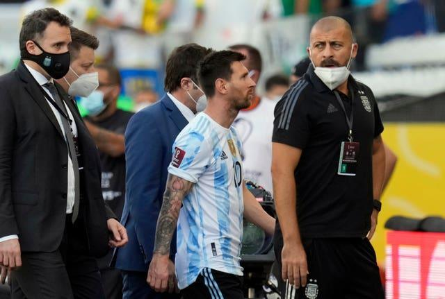Argentina's Lionel Messi walks off the field