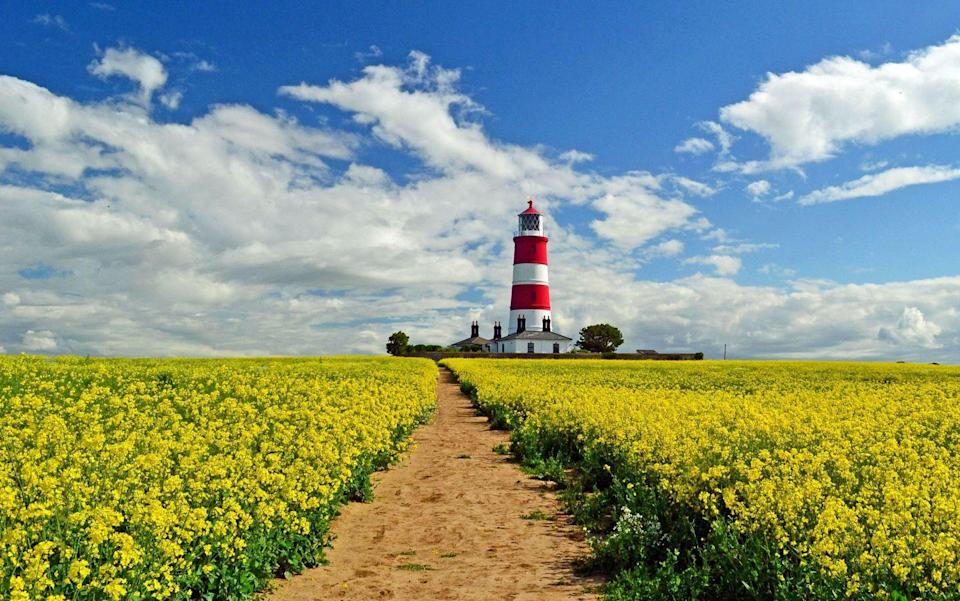 """<p>Famous for its wide skies, glorious coastline, serene rivers and crimson-red poppy fields, Norfolk is the perfect place to stop and enjoy the view. A great way to experience Norfolk's beauty is on one of its local heritage railways, or with a relaxing paddle steamer cruise on the Broads. </p><p>You'll see how life here moves at a slower pace: even the Royal Family come here to unwind. Sandringham has been the Royals' private holiday home since the reign of Queen Victoria, and they spend most Christmases on the vast estate. In the 70s the house and its 8,000 hectares were opened to the public, so it's well worth including a tour of Sandringham in your visit, with a chance to roam the carefully manicured grounds and get a flavour of the royal lifestyle.</p><p>You can hear an exclusive talk about 'Sandringham and the Modern Monarchy' and tour the estate with Lucy Worsley. </p><p><a class=""""link rapid-noclick-resp"""" href=""""https://www.goodhousekeepingholidays.com/tours/norfolk-sandringham-rail-tour-lucy-worsley-train"""" rel=""""nofollow noopener"""" target=""""_blank"""" data-ylk=""""slk:FIND OUT MORE"""">FIND OUT MORE</a></p><p>Or tour Sandringham and discover Norfolk's beauty with much-loved Royal Correspondent Jennie Bond. </p><p><a class=""""link rapid-noclick-resp"""" href=""""https://www.goodhousekeepingholidays.com/tours/norfolk-sandringham-jennie-bond"""" rel=""""nofollow noopener"""" target=""""_blank"""" data-ylk=""""slk:FIND OUT MORE"""">FIND OUT MORE</a></p>"""