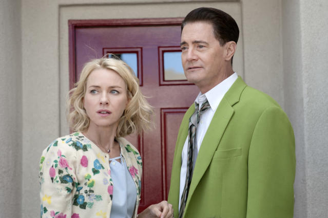 "Naomi Watts as Janey-E Jones and Kyle MacLachlan as Doug Jones in ""Twin Peaks: The Return."" (Photo: Suzanne Tenner/Showtime)"