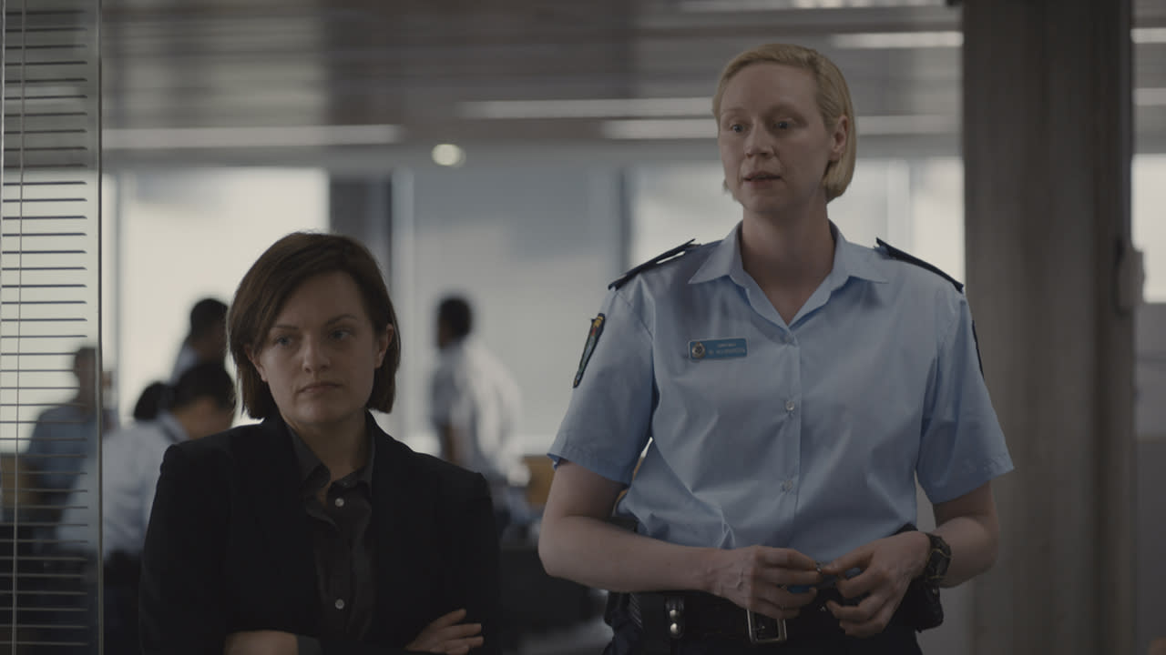 <p>Elisabeth Moss as Robin Griffin and Gwendoline Christie as Miranda Hilmarson in Sundance TV's 'Top of the Lake: China Girl'<br />(Photo: Sally Bongers/See-Saw Films) </p>