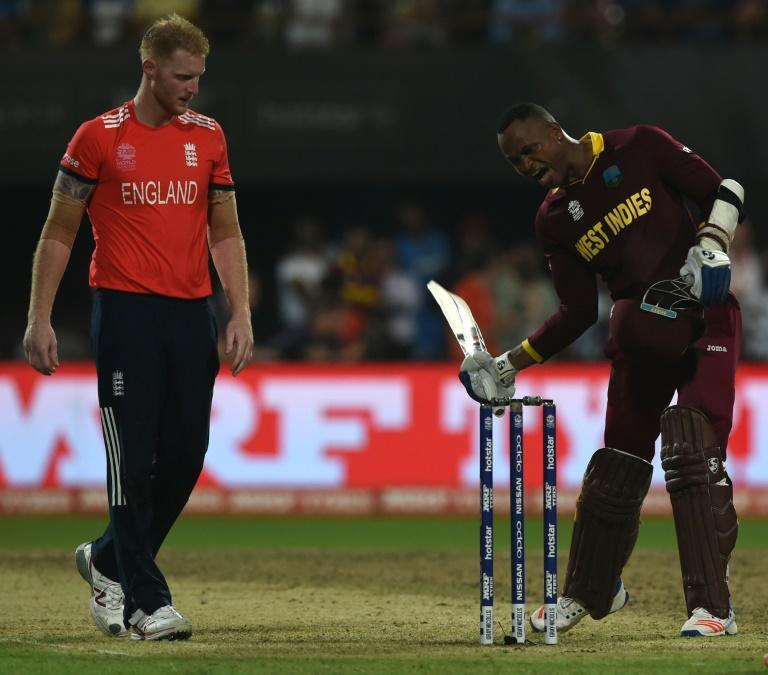 Ben Stokes (L) and Marlon Samuels (R) have a long-running rivalry