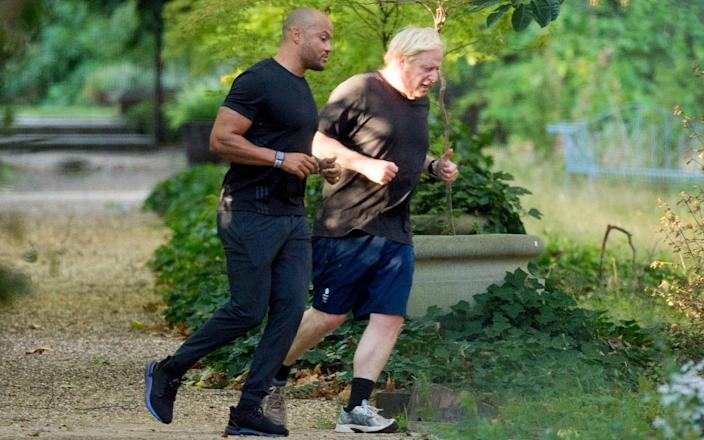 Boris Johnson has hired Harry Jameson to help him get in shape - Jeremy Selwyn
