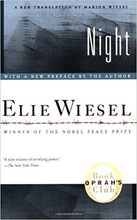 """<p><strong>Elie Wiesel</strong></p><p>amazon.com</p><p><strong>$7.46</strong></p><p><a href=""""https://www.amazon.com/dp/0374500010?tag=syn-yahoo-20&ascsubtag=%5Bartid%7C10055.g.22749180%5Bsrc%7Cyahoo-us"""" rel=""""nofollow noopener"""" target=""""_blank"""" data-ylk=""""slk:Shop Now"""" class=""""link rapid-noclick-resp"""">Shop Now</a></p><p>Elie Wiesel's account of his time in Nazi death camps is horrific and graphic, but it's a powerful and necessary read. Teens who enjoyed <em>The Diary of Anne Frank</em> may want to pick up this one next. </p>"""
